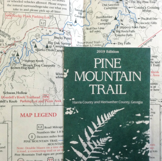Pine Mountain Trail detailed topographic map